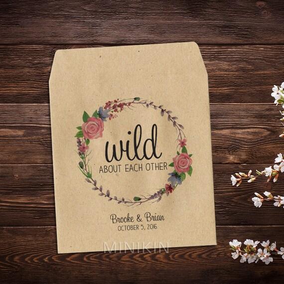 Flower Seed Wedding Favours: Flower Seed Packets Wedding Favors Seed Packet By MinikinGifts