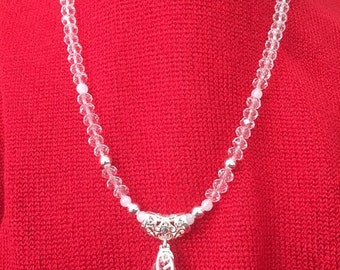 Genuine Swarovski Crystal and Sterling Silver Necklace and Pendant.