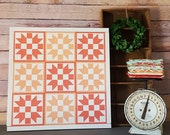 Painted Wood Quilt Squares / Blocks / Granny Squares Large Wood Sign