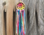 100% Recycled Handmade Tie-Dye Dreamcatcher/car rear view mirrow/-1 tree is planted with every purchase