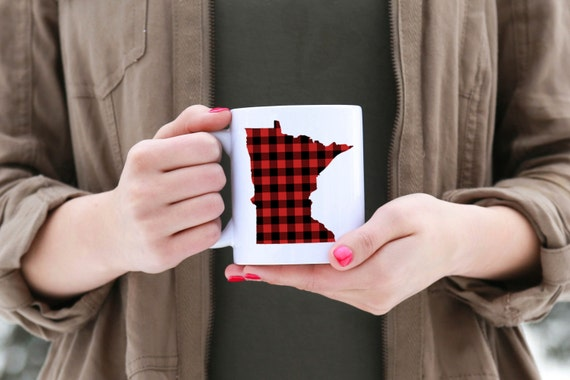 Minnesota Buffalo Plaid Mug | Message Mugs | 11 oz.