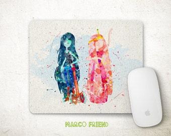 Adventure Time, Marceline, Princess Bubblegum, Print, Poster, Watercolor Art, Kids Decor, Office Decor, Home Decor, Gifts -P195