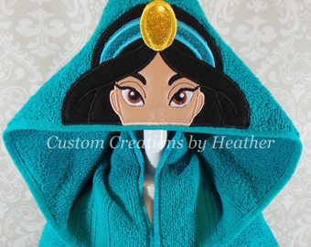 Jasmine Aladdin Inspired Arabian Princess Hooded Towel on High Quality Belk Department Store Towels