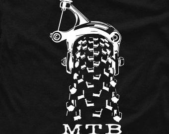 MTB t-shirt Gift Bikers mountain bike Downhill cycling xc bicycle single track S - 5XL
