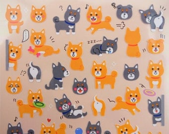 Shiba Inu stickers - Japanese dog stickers - dog breed stickers - kawaii stickers - kawaii Japanese stickers - cute small planner stickers