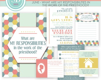 LDS YW Come Follow Me - June - What are my responsibilites in the priesthood? - Printable Lesson Helps - MB
