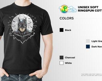 Dark Knight Shirt | PREMIUM QUALITY | Soft Cotton | DC Comics | Superhero | Comic Tee | Geek Clothing | T-Shirt | Geek Tee