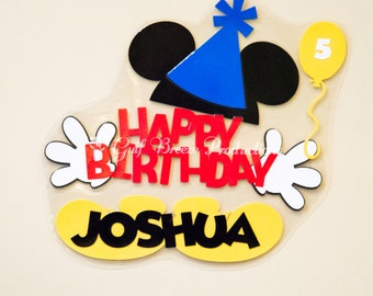 Personalized Birthday Mickey Mouse Disney Cruise Door Magnet