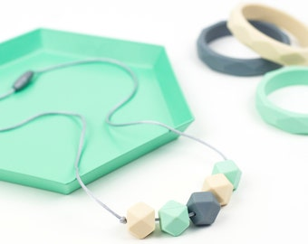 Teething & Nursing Necklace - Mint Pastels 'Jesse - Teething Beads - Mummy Jewellery - Teething Jewellery -Baby Gift - Teether - Chewelry