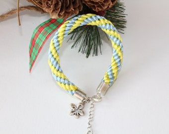 ON SALE Kumihimo braided bracelet