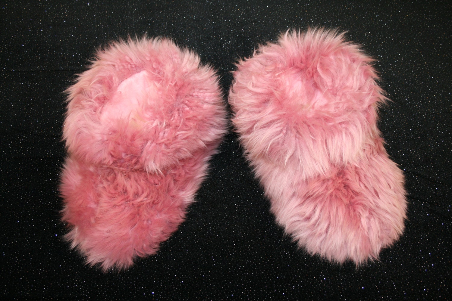 Pink Sheepskin Real Fur Slippers Womens House Slippers