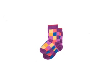 Socks with Geometric Design for Little Ones. Free delivery!