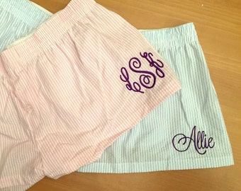 SALE - Personalized Boxer Shorts - Monogrammed Boxer Shorts - Boxers - Bitty Boxers