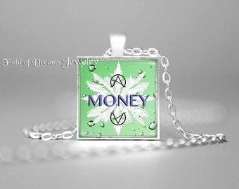 LAW OF ATTRACTION Money Manifestation Pendant Money Affirmation Necklace Money Frequency Necklace Money Vibration Pendant Attract Money