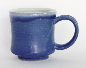Matte Blue Ceramic Mug, 7 oz.