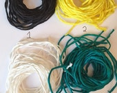 20 Lots of Hand Dyed 100% Silk String - Six Cords per Lot