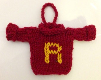 Harry Potter Weasley Sweater, Gryffindor, Christmas Ornament, Christmas Decoration, Hogwarts House, Personalised, Custom, Free Shipping!