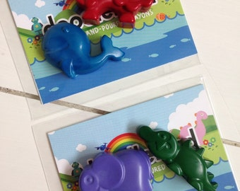 Animal Crayons Twin Pack x 10 | Party Favours | Lion | Giraffe | Crocodile | Elephant | Tiger | Whale | Party Bag Fillers | Jungle | Zoo