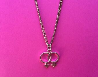Sapphic Double Venus Necklace