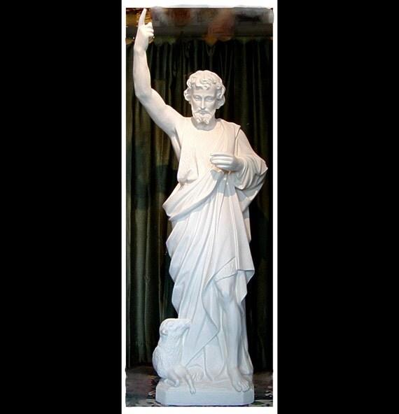 "St. John the Baptist 63"" Fiberglass Catholic Christian Religious Statue"