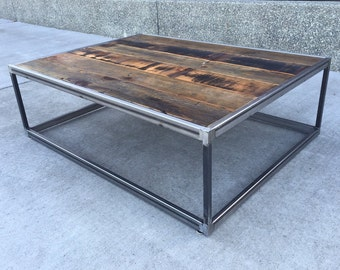 Cool Steel - Warm Reclaimed Coffee Table