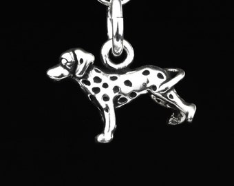 Dalmatian Charm, Sterling Silver Dog Charms, Tiny Dog Charm, Dalmatian Gift, Dog Lover Jewelry, Dog Lover Gift, Dalmation Charm
