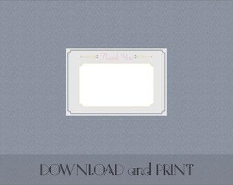 Printable Elegant Garland Thank You Postcard