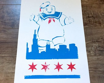 Ghostbusters - Chicago - Stay Puft - The Traveller Has Come