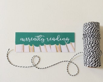 Currently Reading Bookmark, Bookish Bookmarks
