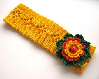 Crochet Headband, Girl Headband, Flower Girl Headband, Summer Headband