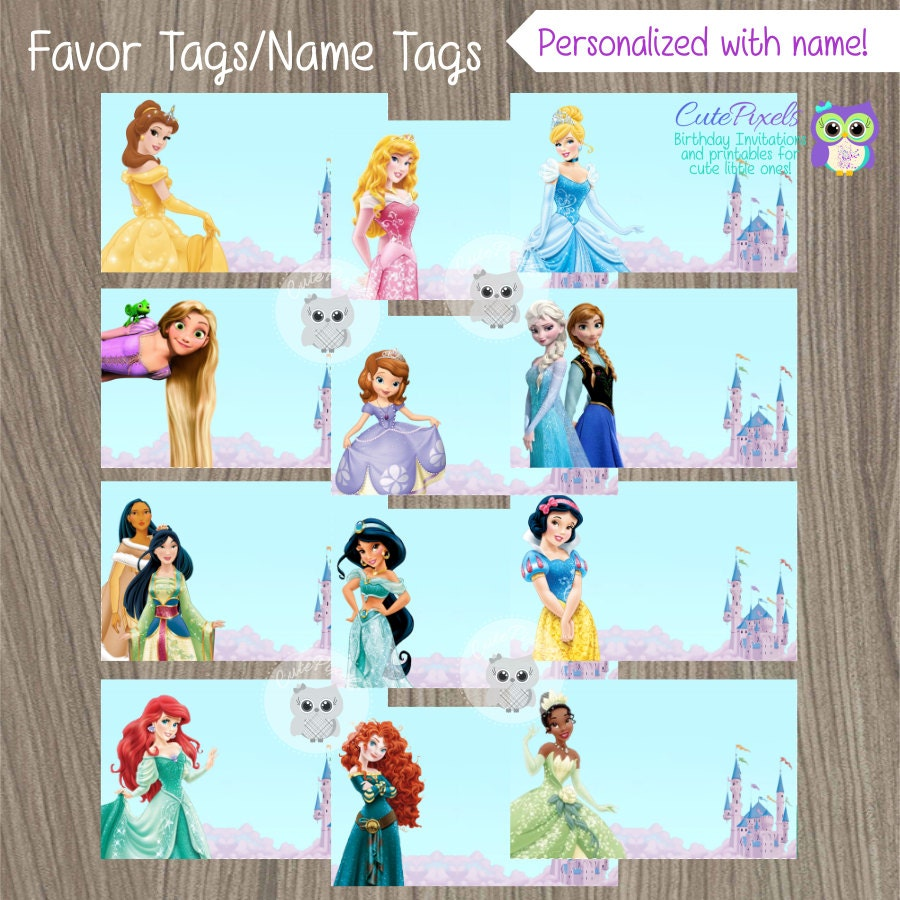 Disney Princesses Birthday Invitations as perfect invitations layout