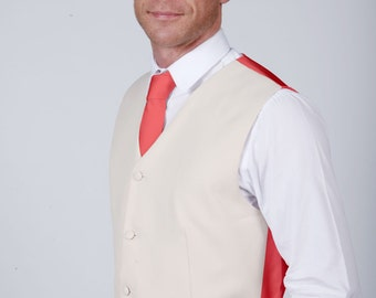 Coral Wedding / Prom Waistcoat by Matchimony available with Matching Items