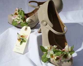 Bloomin Lovely!  Spring flowers Hand decorated Wedding shoes