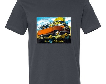 Kombi, T-shirt, VW, Bus, 60's, clam chowder, unicorn, free love, ET, hippie, style, camping, outdoors