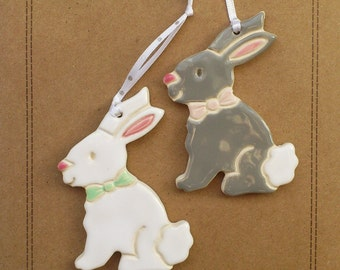 Pottery rabbits