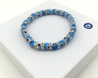 Evil Eye Bracelet - High Quality Glass Beads