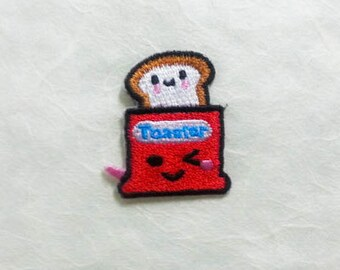Toaster Bread Machine Iron on Patch(S1)- Toaster Oven Applique Embroidered Iron on Patch Size 3.2x3.5 cm