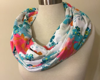 Infinity abstract Flower Handmade Flannel Scarf