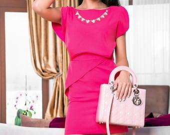 Pink dress, bridesmaid dress, formal dress, casual dress, party dress, evening dress