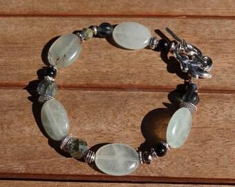 Sage Green Aventurine Bracelet, Boho