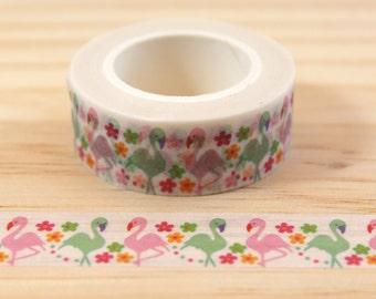 Masking tape Flamingo Pink, Washi tape, adhesive tape, decorative tape, scrapbooking