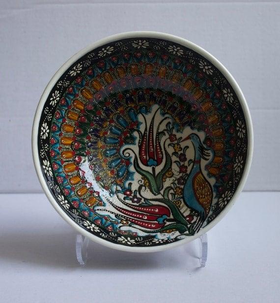 Family Design Hand Made Ceramic Bowl, Decorative Bowl, Serving Bowl, Housewarming gift, Pottery Bowl, Colorful Bowl, Salad Bowl, Boho Decors