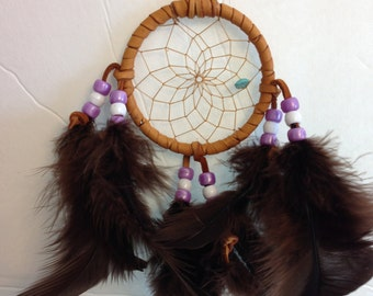 Purple and White Cherokee Dream Catcher
