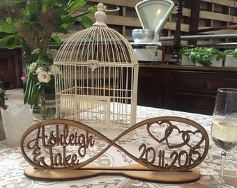 Infinity Love Shaped Wooden family Tree,with family members names ,