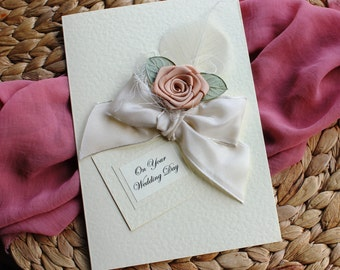 Husband Wedding Card - Wife Wedding Card - Personalised Handmade Card Groom To Bride To My Bride Card Husband Wedding Day Card Love You Card