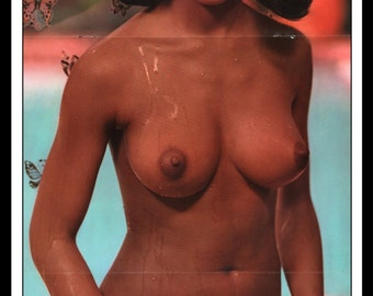 """Mature Playboy October 1969 : Playmate Centerfold Jean Bell Gatefold 3 Page Spread Photo Wall Art Decor 11"""" x 23"""""""