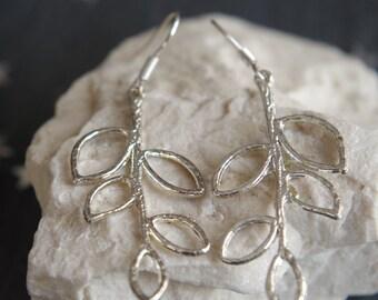 Branch Earrings Silver Earrings  Dangle Earrings Drop Earrings Bridesmaid Earrings Graduation Gift Jewelry Gift Mother's Day Anniversary Day