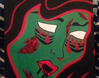Pop Art Zombie Girl Print