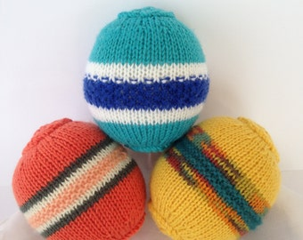 Knitted Play Balls. Toddler Toy. Australian made Toy.
