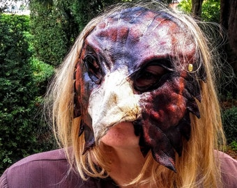 Leather mask-Eagle-various colors